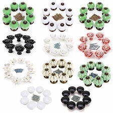 8x Retro Ceramic Cupboard Drawer Door Knobs Cabinet Kitchen Furniture Handle
