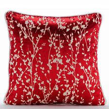 Red Red Willow 45x45 cm Burnout Velvet Cushions Covers Couch - Cayenne Red Drops