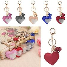 New Women Sweet Key Ring Heart Resin Rhinestone Patchwork Key Chain Decor OO5501
