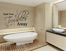 NEW Soak Your Troubles Away Wall Quote Decal