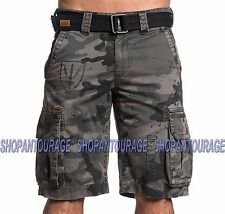 AFFLICTION The Great General 110WS130 Men`s New Camo Cargo Shorts