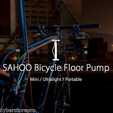 SAHOO Mini Schrader Presta Valve Bicycle Floor Pump for Schrader Presta Valve