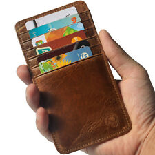 Genuine Cowhide Leather Slim ID Credit Card Case Holder Pouch Purse Wallet