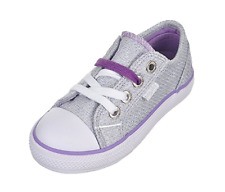 Baby Phat Toddler Jacquard Sneakers (Silver/Lilac)