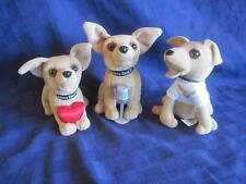 TACO BELL Chihuahua Dog Toy Plush Lot Set of 3 Different