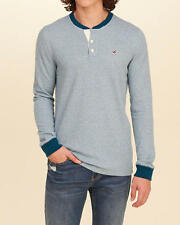Abercrombie & Fitch – Hollister Mens Icon Waffle Henley T-Shirt S Blue NWT