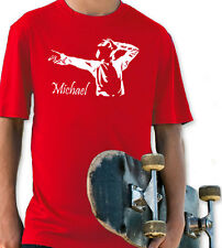 MICHAEL JACKSON KING OF POP RED YOUTH T SHIRT BOYS & GIRLS MUSIC ROCK RETRO