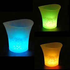 5L LED Ice Bucket Color with Light Change Flashing Cool Bars Night LC