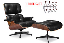 HIGH-END Eames Lounge Chair and Ottoman Replica, Premium Leather
