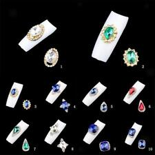 10pcs 3D Alloy Nail Art Rhinestones Gem Manicure Phone Case DIY Decoration