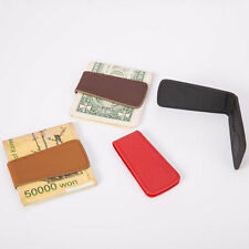 Men's Fashion Genuine Leather Magnetic Money Clip Mini Holder Wallet Candid