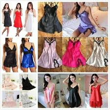 AU Multi-styles Sexy Women Silk Lace Lingerie Babydoll Nightgown Sleepwear Dress