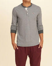 Abercrombie & Fitch – Hollister Mens Icon Waffle Henley T-Shirt L or XL Grey NWT