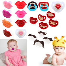 Newborn Silicone Nipple Dummy Pacifier Baby Joke Prank Toddler Soother Nipples