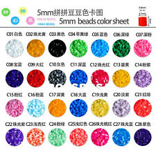Hot 1000pcs HAMA/PERLER BEADS for GREAT Kids Great Fun Many single colors
