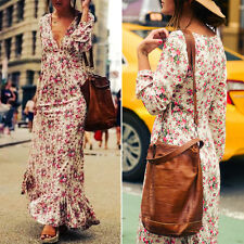 Women's Casual Boho Floral Cocktail Party Evening Maxi Beach Dresses Long Dress