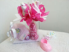 Cutest Lil Baby Face Diaper Rose Bottle Diaper Cake Baby Shower Gift Boy Girl