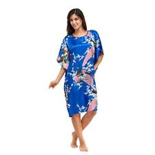 Blue Rayon Knee Length Nightgown One Size