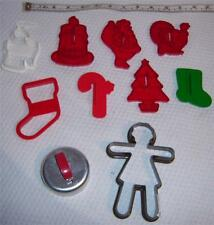 LOT 10 Hallmark ~Wilton ++ Cookie Cutters ~Gingerbread Man ~Donut Maker Metal ++