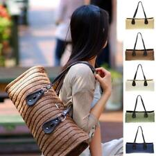 Womens Ladies Straw Woven Retro Large Casual Summer Beach Handbags Tote