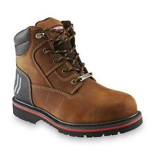 Craftsman Men's Laramie Brown Leather Steel Toe Work Boot Oil Slip Resistant !!!