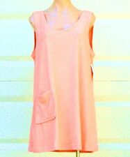 Cotton / Poly Sleeveless Terry Cloth Tank Style Cover Up w/ Pocket - Size M