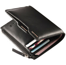 Teemzone Men Genuine Leather Wallet Purse Business Credit Card Case Holder Gifts