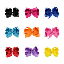 1Pcs Baby Ribbon Hair Clip Grosgrain Bow Girl Big Bows Alligator Clips BoutIque