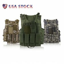 Tactical Military SWAT Police Airsoft Molle Combat Assault Plate Carrier Vest TB