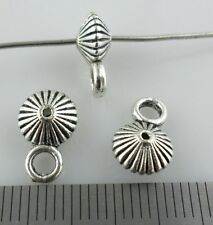Tibetan Silver Charms Spacer Beads Bails Connectors Pendants Jewelry Findings