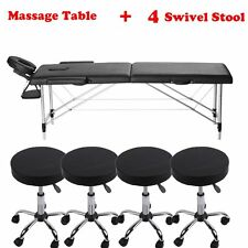 "LOT BestMassage Black 77""L 3"" Pad Portable Massage Table Facial Bed Spa Chair FG"