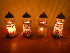 Mediterranean Lighthouse Candle Holder with Tea Light Candles (Offer 2 for £8.99
