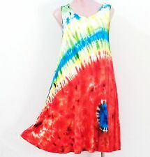 India Boutique Tie Dye Style Short Dress / Cover Up - FREE SIZE, ONE SIZE, NWT