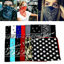 Mixed Color Cotton Paisley Print Bandana Head Wrap Scarf Wristband Wholesale Lot