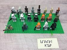 Lego STAR WARS Lot Of 20 Complete Minifigs Figures People & Accessories
