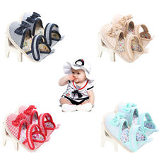 Hot Selling Baby Girls Shoes Summer stripe Bow cotton Toddler Princess Hot