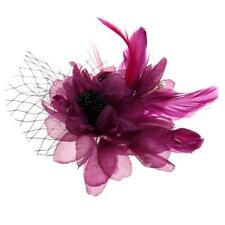 Womens Wedding Bridal Flower Brooch Hair Pins Feather Hair Clips Accessory