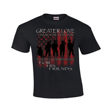 Greater Love Armed Forces T Shirt Military Mens Sizes Gildan #136