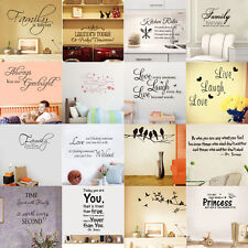 45 Styles Removable Quote Art Decor Vinyl Wall Sticker Mural DIY Home Room Decal