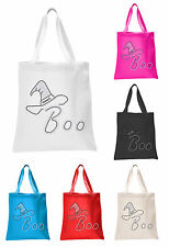 Boo Halloween Trick or Treat Tote bag party gift sweet bag fancy dress ghost