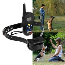 Dog Pet Shock Collar Diving Training Rechargeable 550yd Remote Control LCD