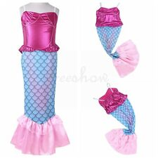 New Kids Girls Mermaid Fish Tails Fins Skirt Fancy Dress Party Cosplay Costume