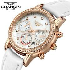GUANQIN 2016 Fashion Women Luxury Brand Watches Quartz Leather Dress Watch S0F7