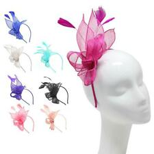 Large Headband Aliceband Hat Fascinator Feather Wedding Ladies Race Royal Ascot