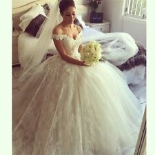 New Bridal Gown White/ivory Lace Wedding dress custom size 6-8-10-12-14-16-18
