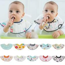 Baby Kids Infant Animal Toddler Cartoon Saliva Towel Lunch Bibs
