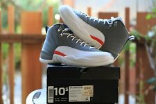2011 DS NIKE AIR JORDAN 12 RETRO COOL GREY/WHITE-ORANGE US 10.5 - [130690-012]