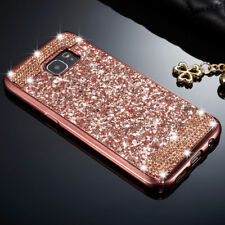 Luxury Slim Glitter Bling Diamond Soft TPU Back Case Cover For iPhone Samsung