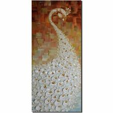 Hand Paintings Abstract Art 3d on Canvas Modern Decoration Wall Peacock Tail