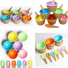 1Pcs Kids Container Cup Ice Cream Bowl With Spoon Couples Dessert Eco-Friendly